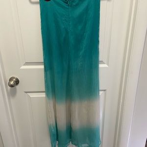 Teal and Ivory skirt